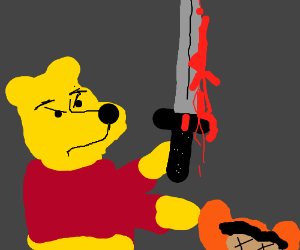 Pooh Vs Gummybear Halloween Theme Drawception