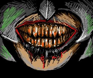 Them scary teeth and threaded black lips