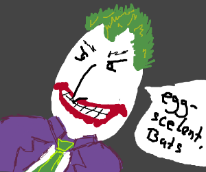 Joker gets plastic surgery to look like an egg