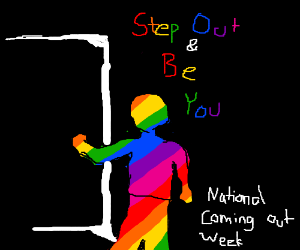 """LGBT pride message for """"Coming Out Week"""""""