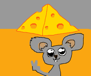 cute mouse tourist at cheese pyramids tkn pict