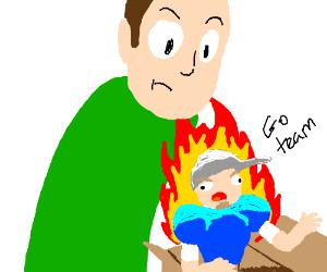 burning team captain unboxing