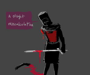 Knight slices off his own arm