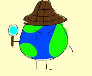 earth as stereotypical 19th century detective