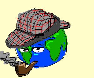 The Globe with Sherlock Holmes gear on