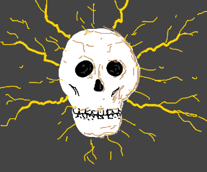 Electically charged skull