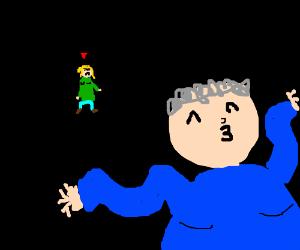 Green Lady jealous of blue lady's dance skill