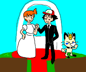 Misty and Ash get married