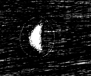 space in black and white