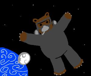 Scubear... in space!