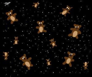 Teddybears (lots of them) IN SPAAAACE