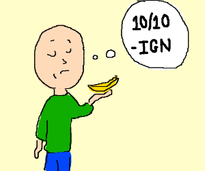 Man rates his banana 10/10