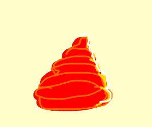 Red poo