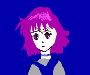 Magic girl with purple hair