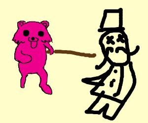 Pink Twitter Pedo-Bear Stabs Monopoly Man