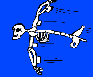 Spooky Skeleton Plane