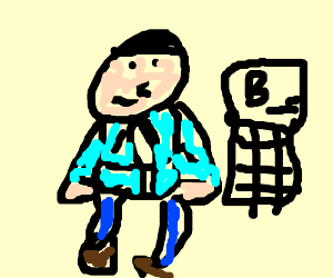 A muscular man in a bubble jacket plays BO2