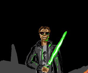 The Terminator as a Jedi.