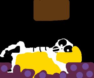 Mr. Skeletal on his death bed