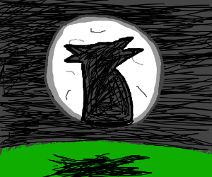 Werewolf Moon man howled at the moon!