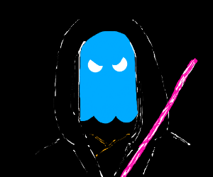 I don't trust blue ghosts with lightsabers.