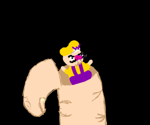 Wario lived inside your finger all the time.