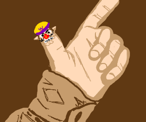 Your finger? False, its wario