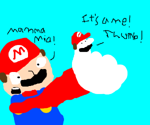 Mario's thumb develops a mind of its own