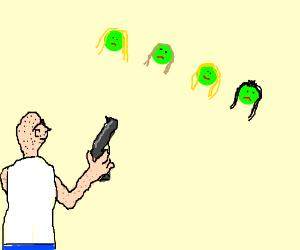 Plants vs Zombies: peashooter - Drawception