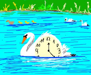 A half swan half clock