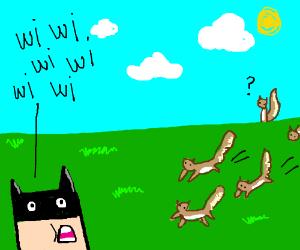 batman makes chipmunk call