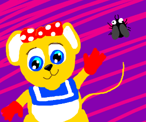 Pipsy the Mouse plus a derpy fly.