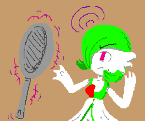 Gardevoir and a frying pan