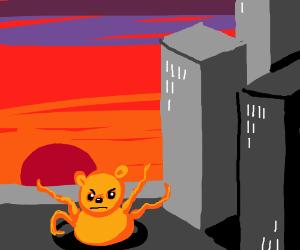 Winnie the Pooh/Sarlac hybrid invades city!