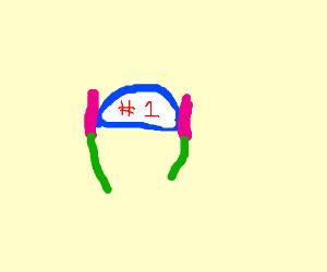 It was his hat, Mr. Krabs. HE WAS #1!
