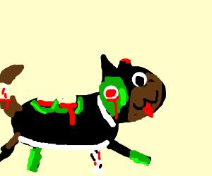 Cute zombie dog