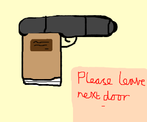 A book is a loaded gun in the house next door - Drawception