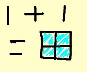 one plus one equals window For1 Plus 1 Equals Window