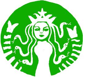 Starbucks Logo As Medusa Drawing By Joe HF