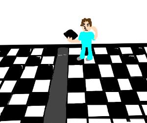 Tile worker got the checker pattern wrong