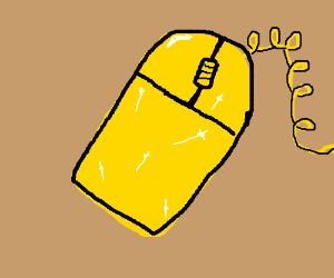 A yellow mouse.