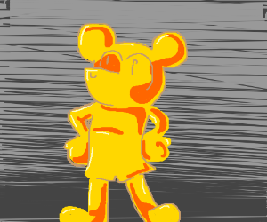 Mickey Mouse made of gold