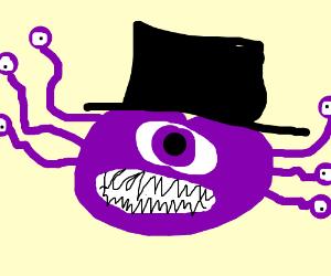 e8735c8dea645 Beholder with a top hat - Drawception