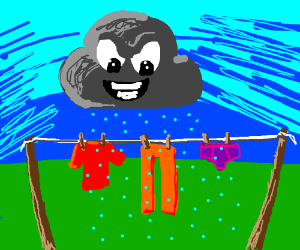 Raining on your drying clothes
