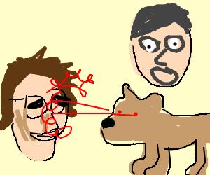lazerdog kills andy samberg bill hader scared drawing by 5spd5thgen