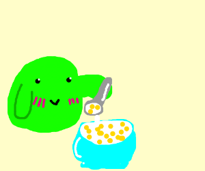 slime wizard likes cereal