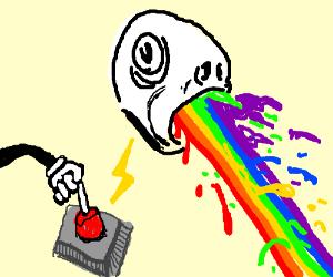 I activate Rainbow Vomit!