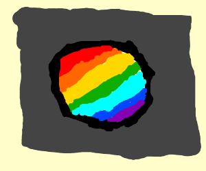 Rainbow button.