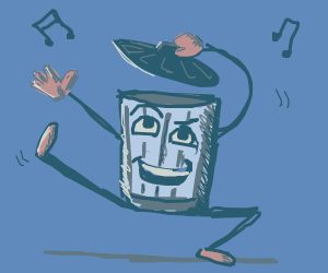 Dancing Dustbin Robot