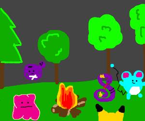 pokemon campfire